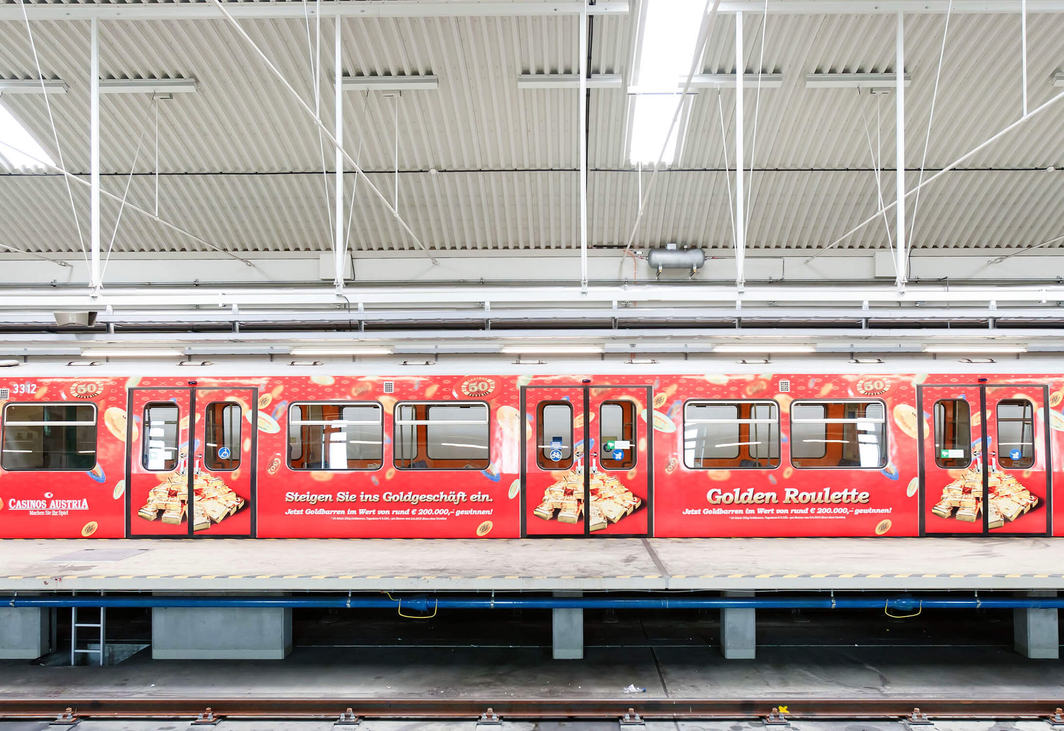 Gewista Stadtwerbung U-Bahn, Bahnsteigtafeln, Werbung Innen, Aussen