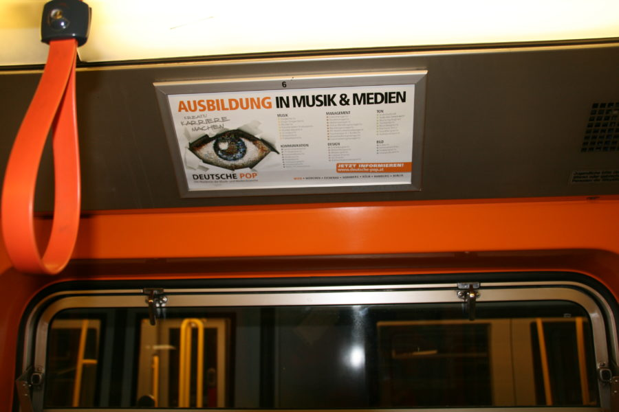 Gewista Stadtwerbung U-Bahn, Innenwerbung, Branding