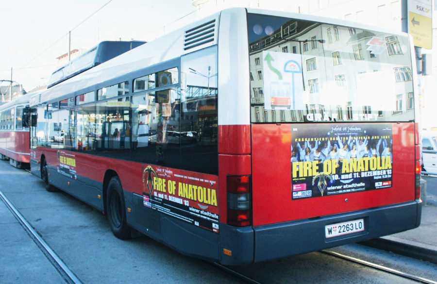 Gewista Stadtwerbung Bus Side Board