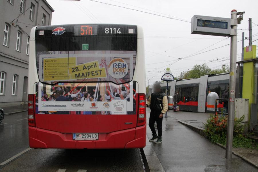 Gewista Stadtwerbung Bus Heck