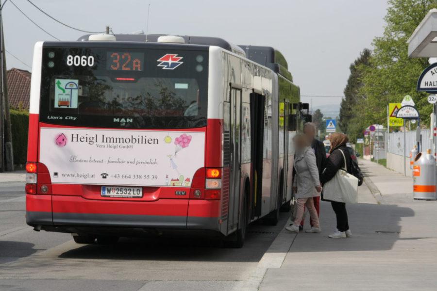 Gewista Stadtwerbung Bus Heck Heigl Immobilien
