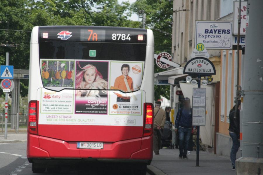 Gewista Stadtwerbung Bus Heck Linzer Strasse