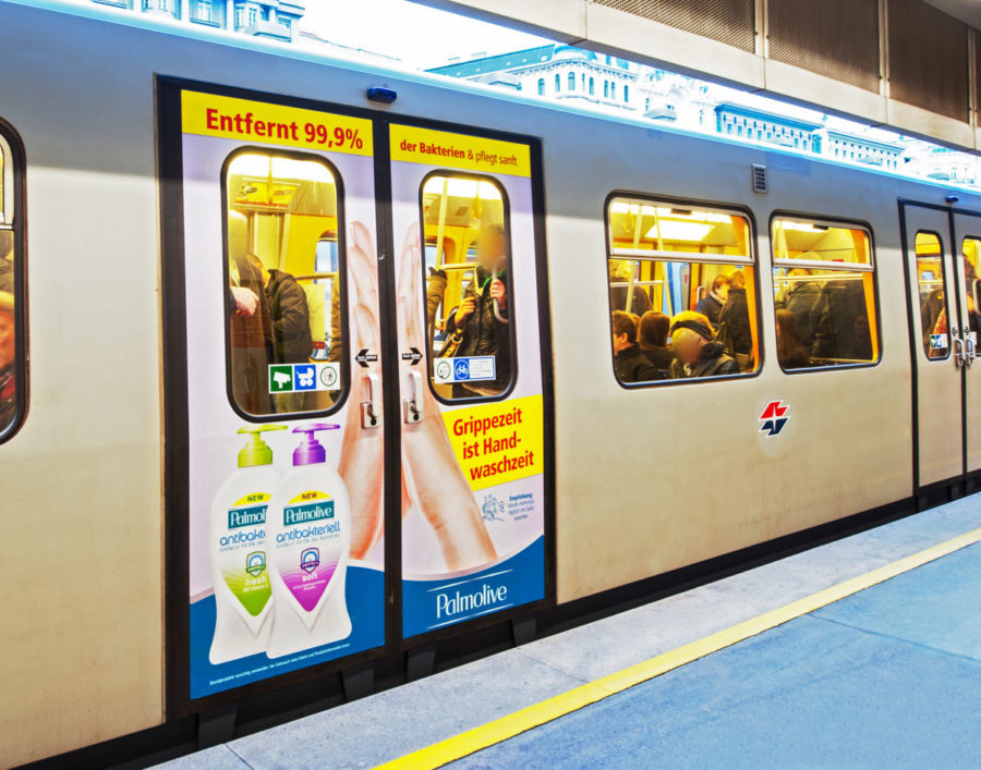 Gewista Stadtwerbung U-Bahn Palmolive