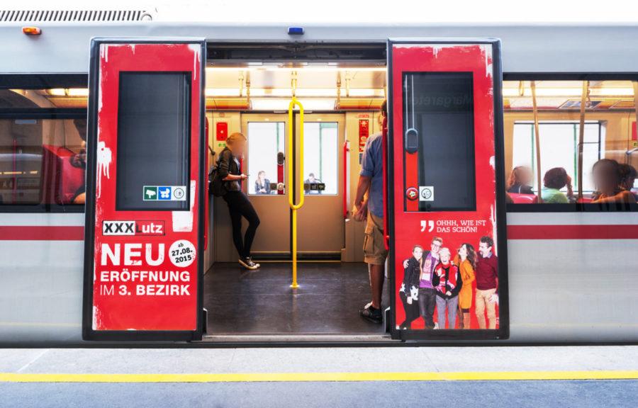 Gewista Stadtwerbung U-Bahn XXX Lutz
