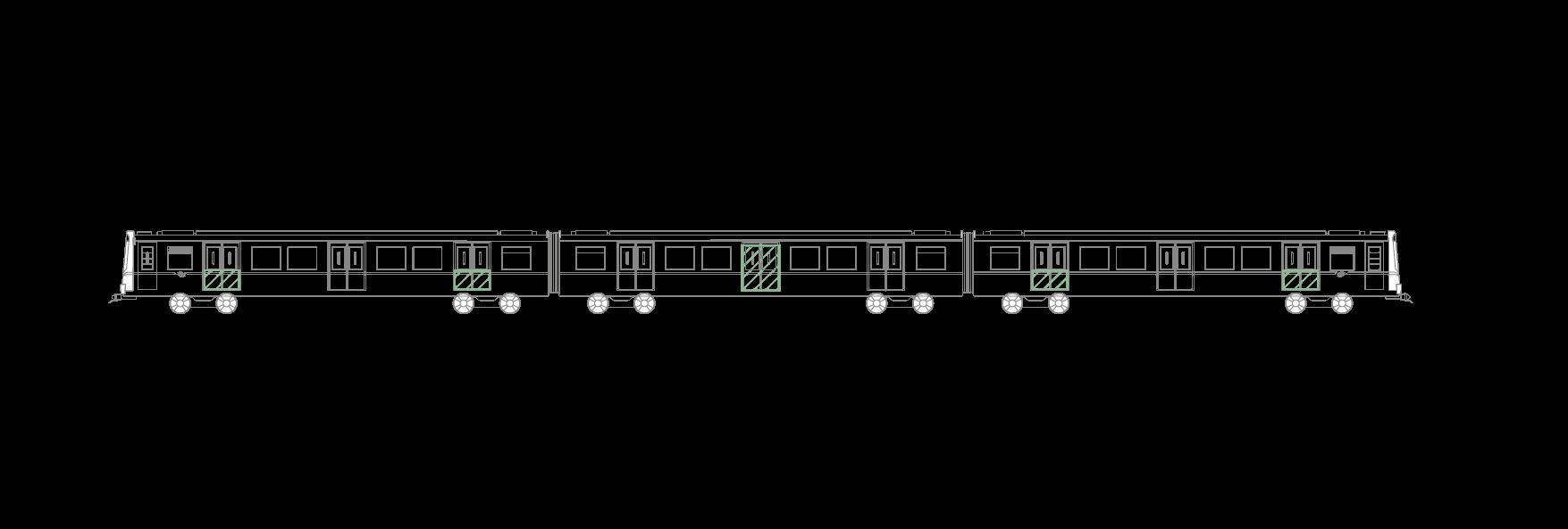 U-Bahn, Half Doors, Skizze